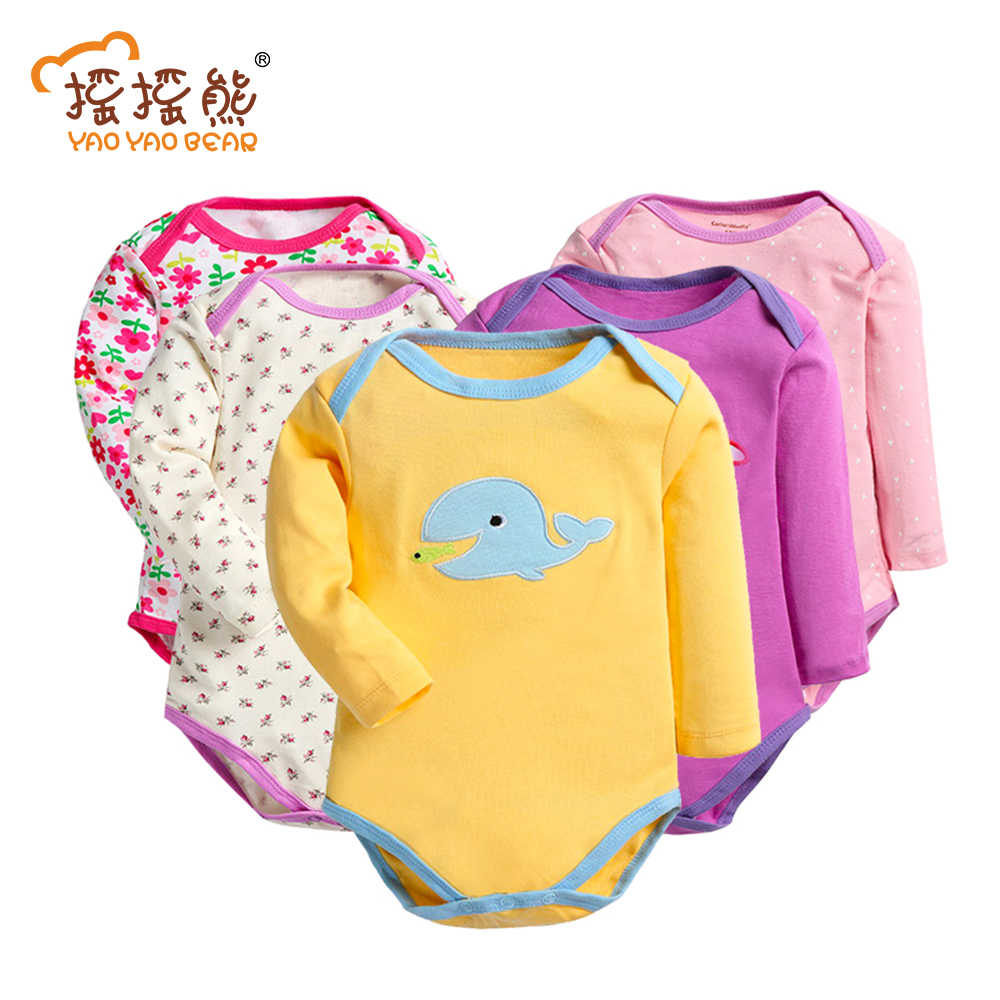 Children's Bodie Body Baby 5 PcsLot Baby Romper Infant Romper Long Sleeve Jumpsuit Romper Brand Baby Girl Boy Clothing Jumpsuit