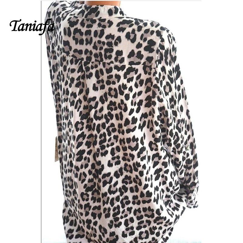 2018 New Arrival Women Blouses Leopard Print Long Sleeve Fashion V-neck Shirt Sexy Casual Office Ladies Blousas Tops Plus Size 2