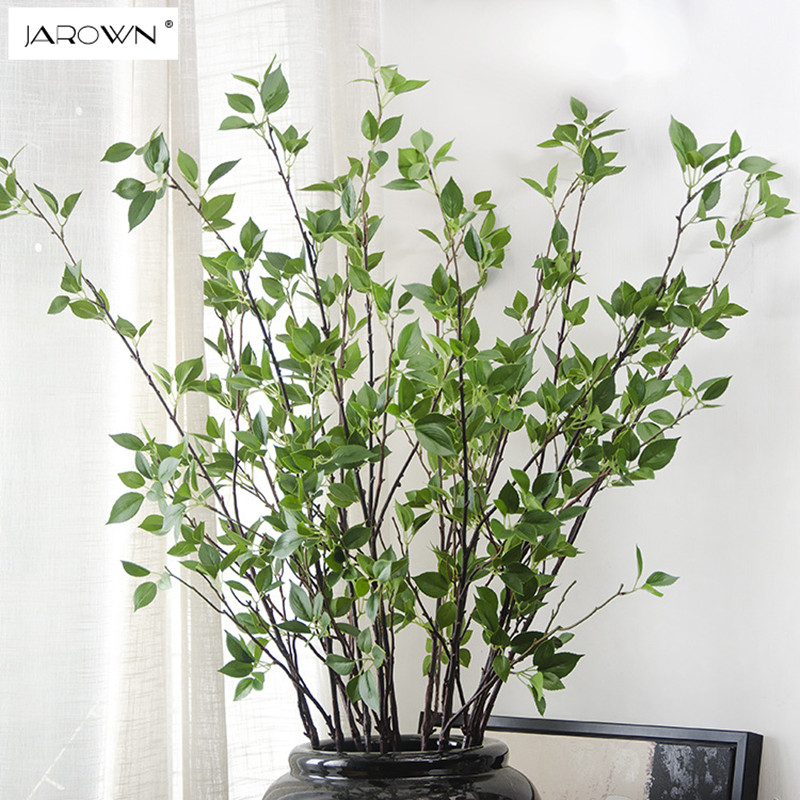 jarown real touch spring branches artificial plants decorative home fake green artificial. Black Bedroom Furniture Sets. Home Design Ideas