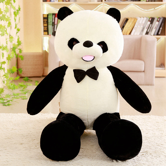 Cute 60 80cm Baby Big Giant Panda Bear Plush Stuffed Animal Doll