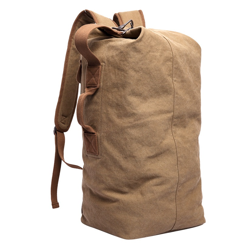 DB26 Hot Pure Cotton Canvas Backpacks Large Backpack Duffel Bags Bucket Bags Custom Back pack School