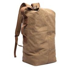 DB26 Лидер продаж! Натуральный хлопок холст Рюкзаки большой рюкзак вещевой Сумки ведро Сумки пользовательские Back Pack школьные рюкзаки Mochila Escolar