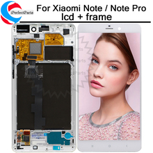 """5.7 """"สำหรับ Xiao mi mi หมายเหตุ mi หมายเหตุ LTE จอแสดงผล LCD หน้าจอสัมผัส Digitizer กรอบสำหรับ Xiao mi mi หมายเหตุ/หมายเหตุ Pro lcd"""