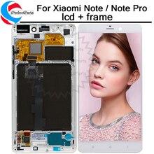 """5.7 """"ل جهاز شاومي مي نوت هاتف محمول mi Note LTE شاشة إل سي دي باللمس شاشة مع الإطار قطع غيار محول رقمي ل جهاز شاومي مي نوت/ملاحظة برو lcd"""