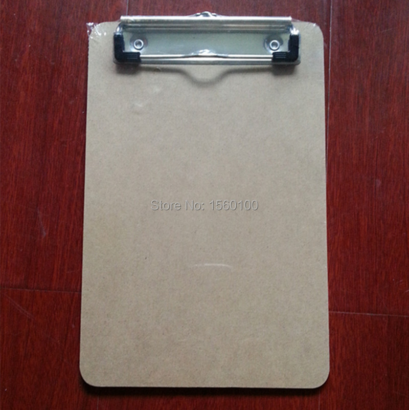 Pengiriman gratis (6 pcs / lot) A5 MDF menulis clipboard, Kayu lapis klip kayu papan, Menu portabel clipboard, Folder sub-plat