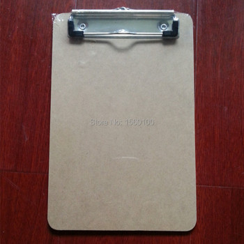 цена на Free Shipping(6pcs/lot) A5 MDF writing clipboard Plywood Wooden file clip board portable menu clipboard sub-plate folder