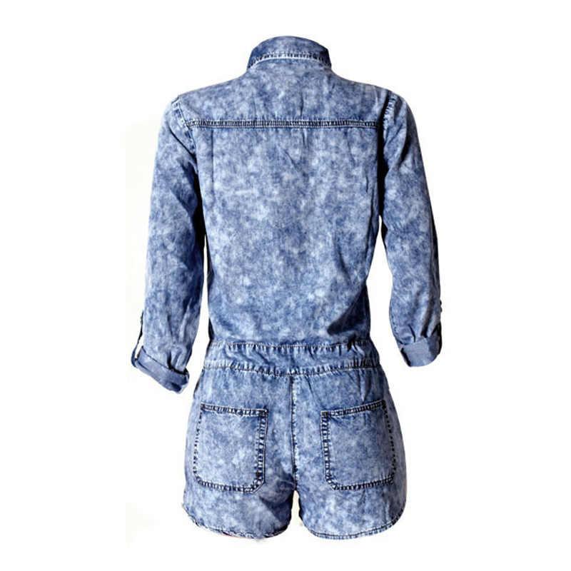 Новинка 2019, летние повседневные свободные винтажные комбинезоны, джинсы для женщин, джинсовая рубашка, брюки, короткие джинсы, женские комбинезоны, штаны