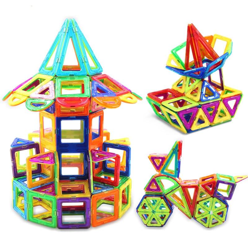 Magnet Designer Mini Magnetic Building Blocks Models & Building Toy Plastic Technic Bricks Children Learning & Educational Toys new magnet game mini enlighten magnetic building blocks models