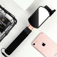 Etercycle Tenuto In Mano Allungabile Wired Built-In Remoto di Scatto Monopiede Selfie Stick con Specchio Posteriore per iOS e Android Smartphone