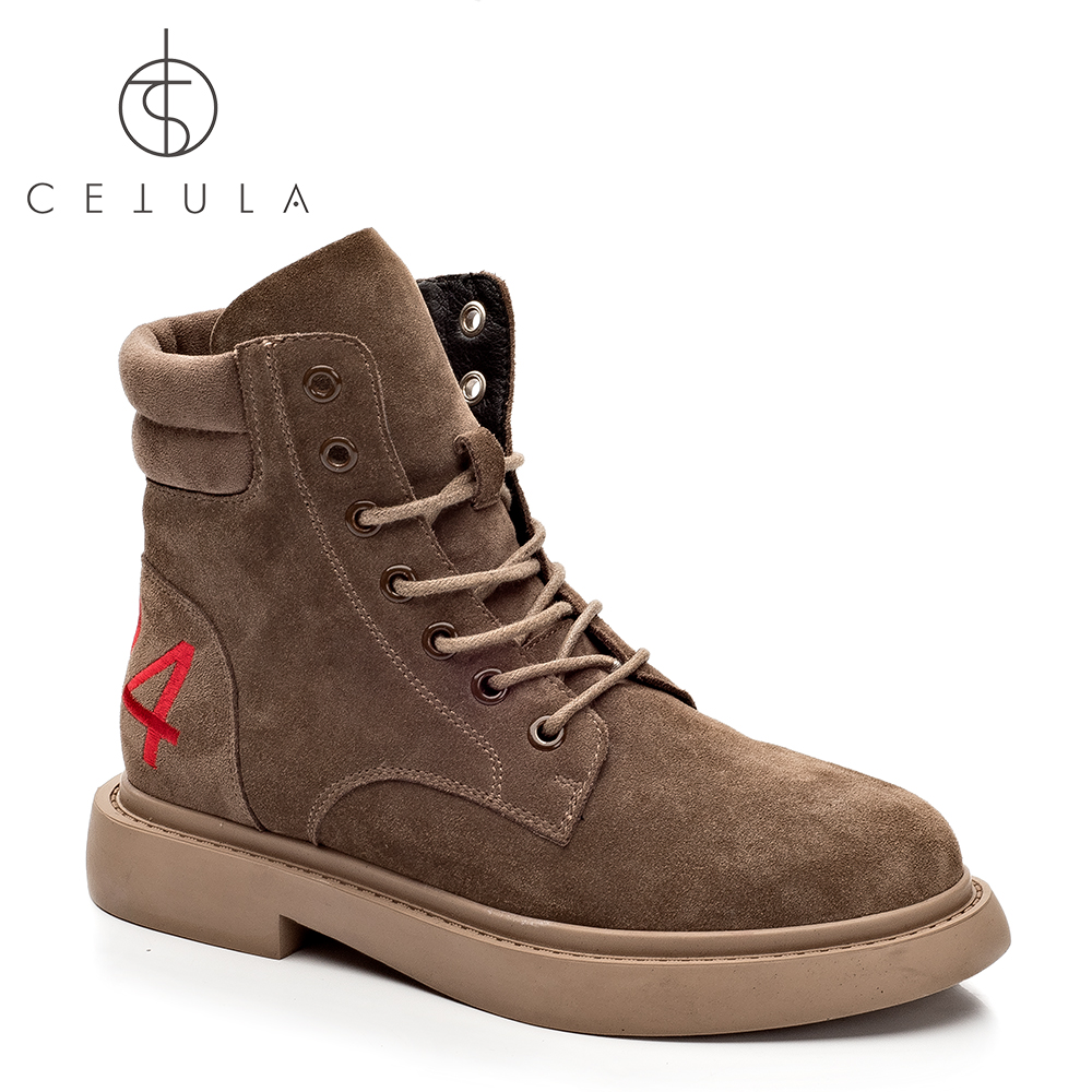 Cetula 2018 Handcrafted Quilted Effect Sheep Suede Lace-up #424 Female Hi-top Work Boots ft. Padded Collar&Stitching Outsole new for macbook air 13 13 3 a1466 top case topcase with keyboard us usa english version backlight 2013 2014 2015 years