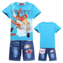 New Plane Boys Clothing Set Cartoon DUSTY PLANE Casual Kids Sets For Summer T-Shirt Pants Children