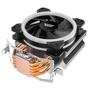 Image 2 - Aigo darkflash L5 LED CPU Cooler Radiator TDP 285W Heat Sink AMD Intel Silent 120mm 4Pin PC CPU Cooling Cooler Heatsink Fan