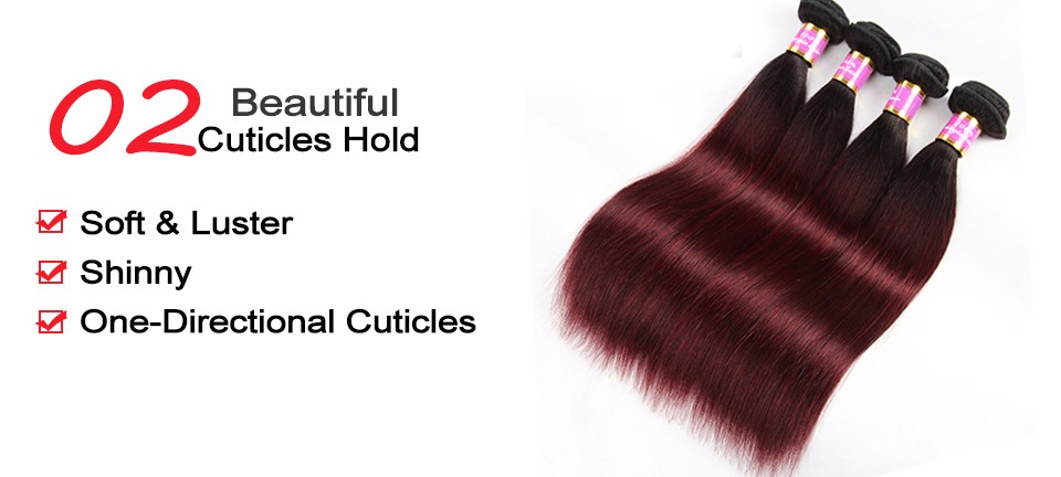 ombre brazilian human hair straight