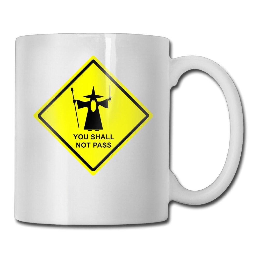 Гэндальф вы не пройдут Предупреждение знак кружка для кофе открытый дедушка tazas керамический стакан caneca чай Чашки