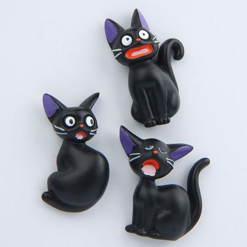 1 шт. Творческий кошка фигурку магнит на холодильник мультфильм животных модель магнит н ...
