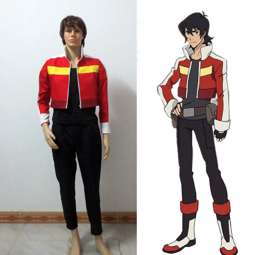 Voltron Legendary Defender Keith Cosplay Costume Full Set Top Pants font b T shirt b font