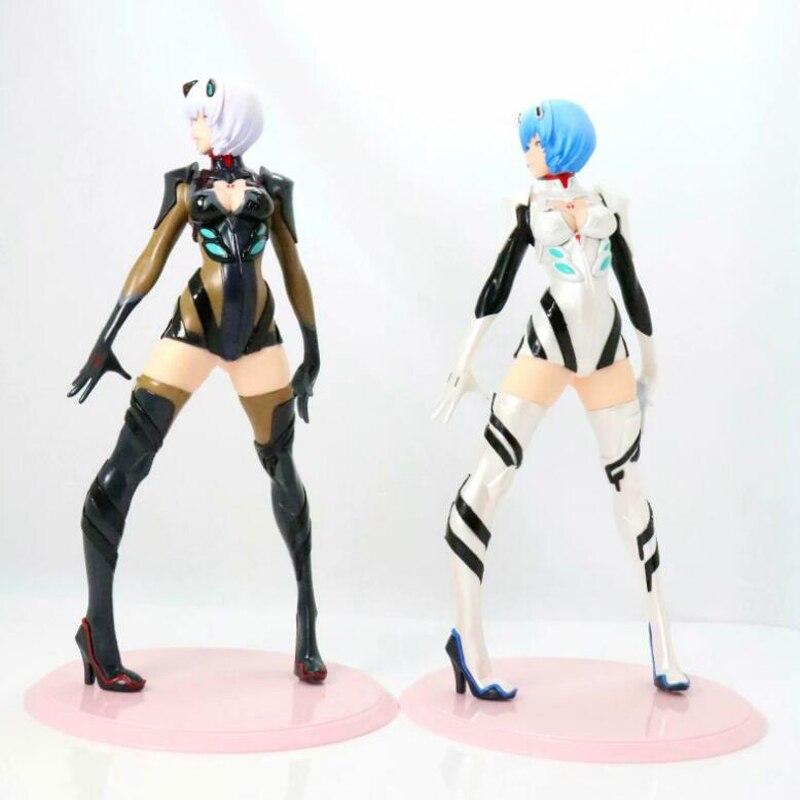 Ayanami Rei Neon Genesis modèle d'action modèle anime figure blanc et noir 2 style collection avec boîte 24 cm enfants jouet cadeau Y7625