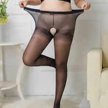 100kg Women Autumn Winter Tights Open Crotch Crotchless Sheer Seamless Pantyhose Silk Stockings Black Nude black and nude patchwork striped pantyhose stockings