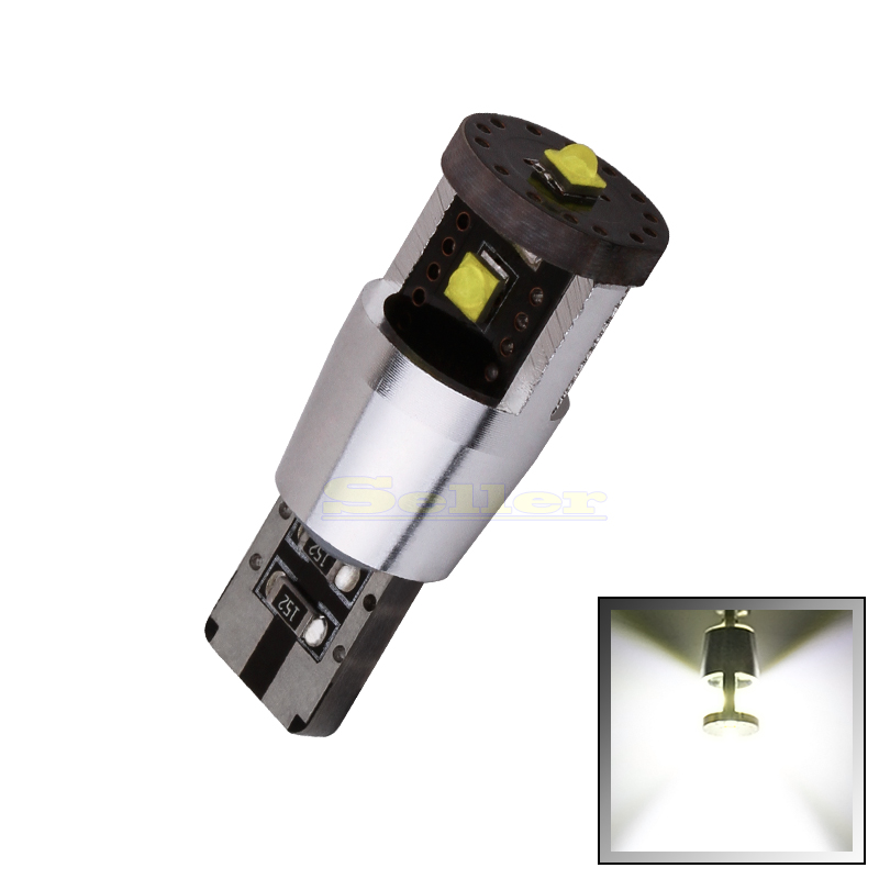 1pcs Pure White W5w T10 Led Bulbs 194 168 15W Canbus Chips High Power Lamp Car Light Source DRL Interior light DC 12V