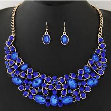 NANBO MX0003 New Fashion Hollow Charm Necklaces Bow Flower Stone Maxi Jewelry sets Short Accessories gifts