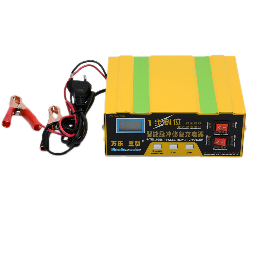 Automatic 12V/24V Car Ebike Battery Charger Maintainer Desulfator LED Display Lead Acid & Lithium Battery Charger 20-100AH картридж prio новая вода к 687