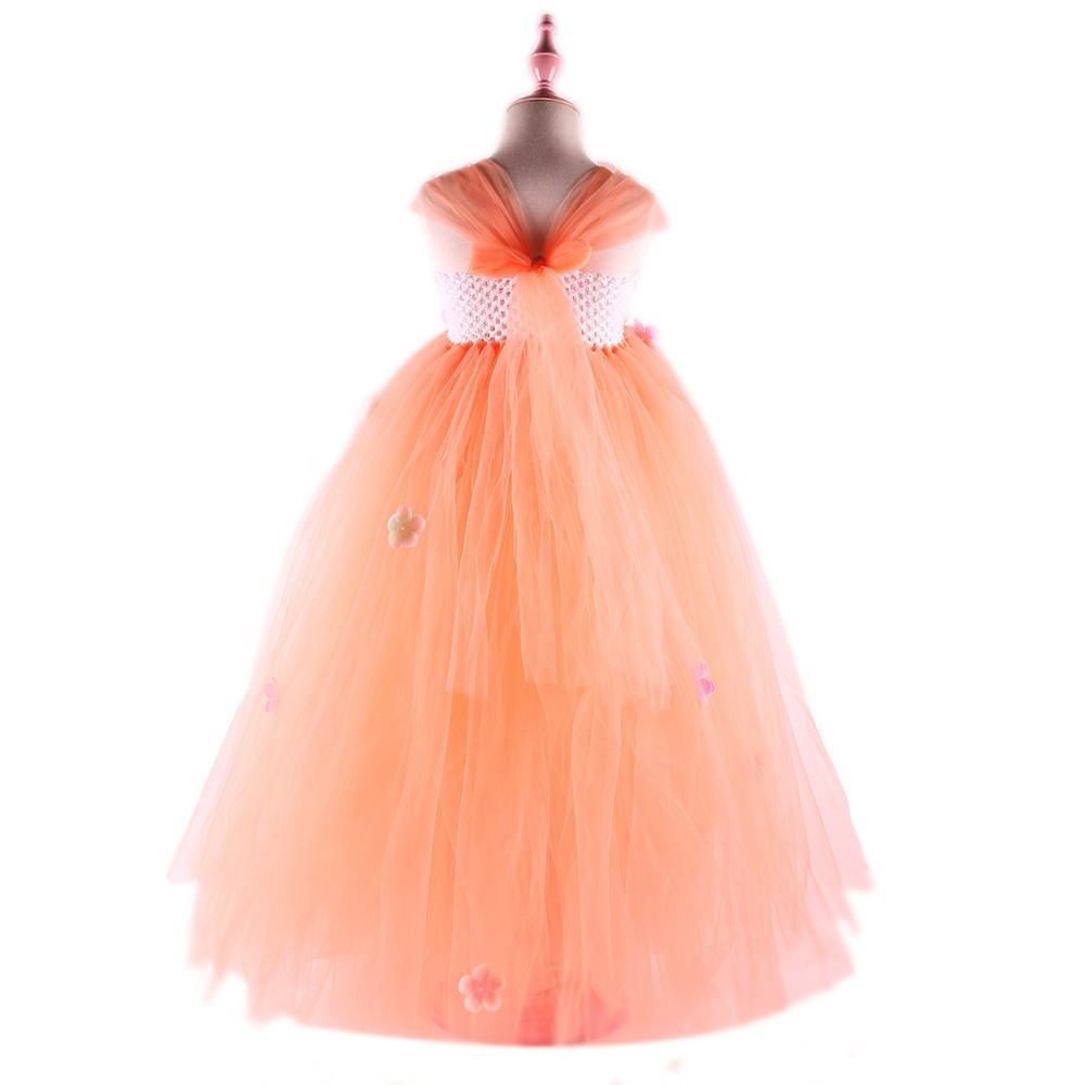 Cute Peach Flower Girls Tutu Dress Kids Party Dresses for Girl Bridesmaid  Wedding Dresses Ball Gown Baby Dance Dress Birthday-in Dresses from Mother    Kids ... 828486210dbe