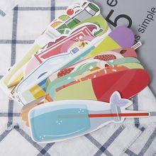 30 unids/caja, marcapáginas de moda Vintage para bebidas gaseosas, helados, verano, papel Kawaii, material de papelería escolar