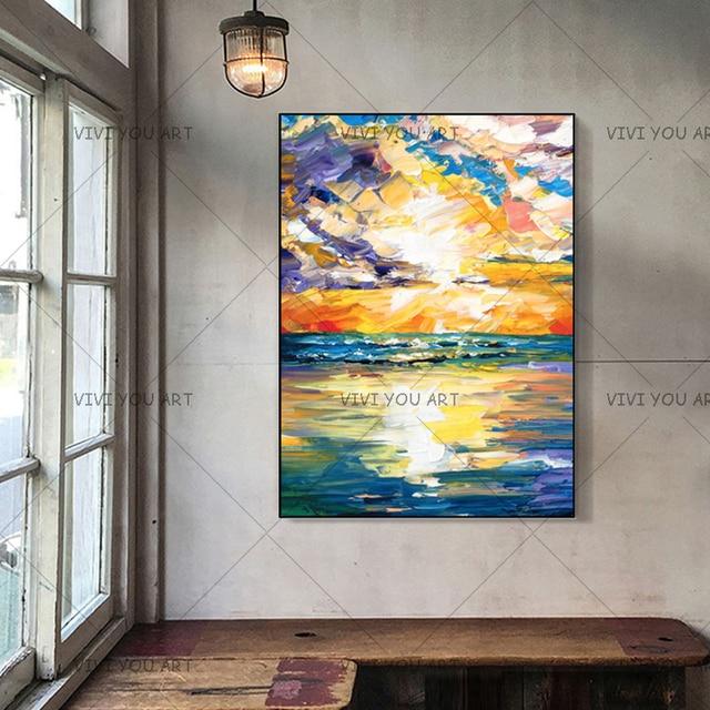 Vérifiez Le Prix Moderne Abstrait Paysage Peinture à L Huile