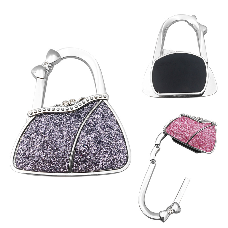 New Portable Handbag Hook Foldable Handbag Hanger Bag Desk Hanger Bag Hanger Foldable Purse Bag Hook Holder