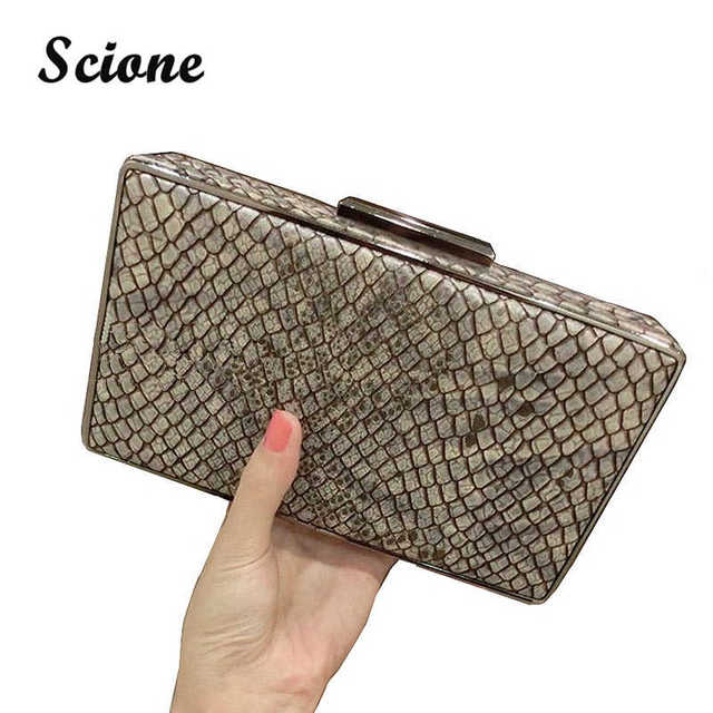2016 new women snake skin pattern clutch purse fashion women wedding clutch bag brand women party clutches drop shipping MR62