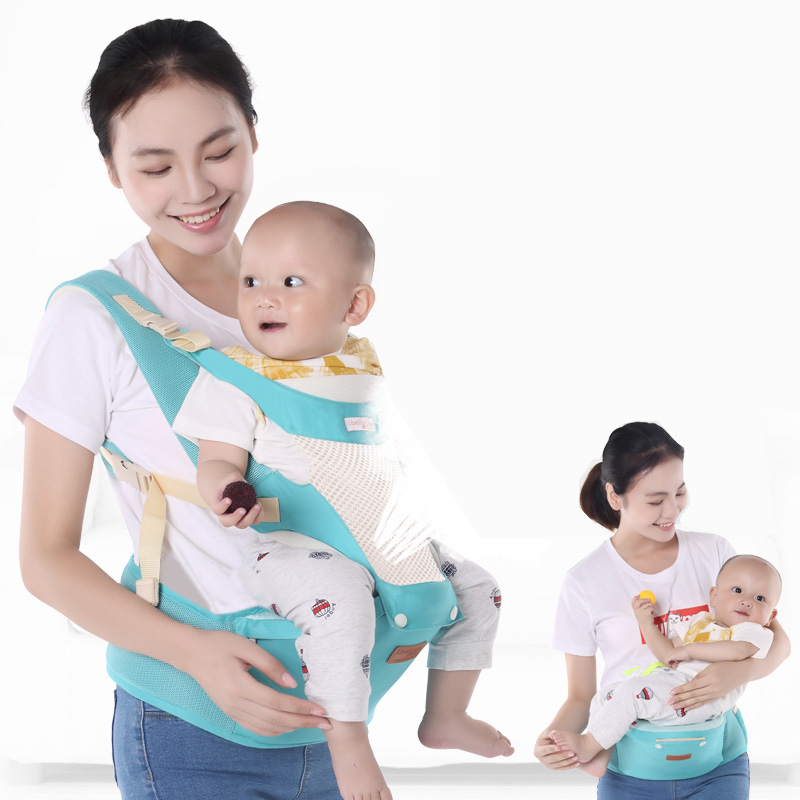 Baby Carriers Breathable Mesh Baby Carrier Wrap Stool Safety Odorless Wrap Sling Carrier Newborn Outdoor Travel Backpack