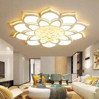 Новое поступление белая отделка Кристалл Современные светодио дный потолочные светильники для Гостиная Спальня Dia520/680/800 мм потолочный све