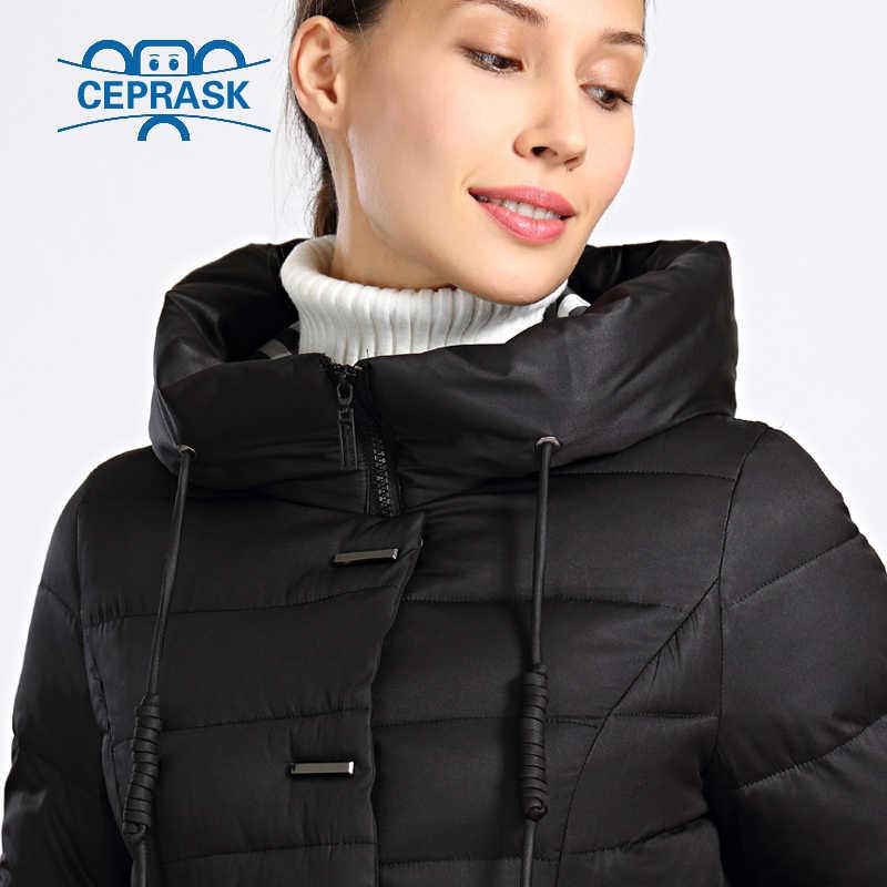 2019 Baru Musim Dingin Jaket Wanita Plus Ukuran Panjang Tebal Wanita Musim Dingin Mantel Berkerudung Kualitas Tinggi Hangat Down Jaket Parka Femme ceprask
