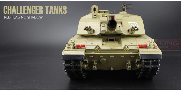 fc072118a34e 2.4Ghz RC 1 16 British Main Battle Tank model Challenger 2 Tank Ultimate  metal version airsoft Smoke Sound Metal Gear Tracks-in RC Tanks from Toys    Hobbies ...