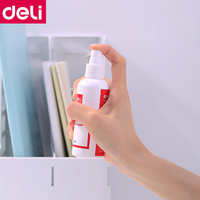 1 шт. Deli 7869 приспособление для очистки белой доски спрей ластик вода 100 мл на бутылку белая доска чистая вода спрей