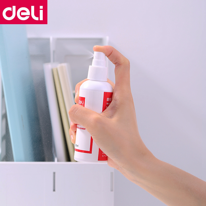1PCS Deli 7869 Whiteboard Cleaner Spray Eraser Water 100ml Per Bottle Whiteboard Clean Water Spray