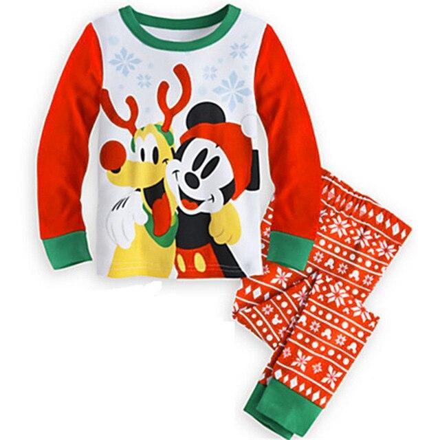 54cb44f90 2018 pijamas de Navidad para niños y niñas de manga larga pijamas de  algodón pijamas de