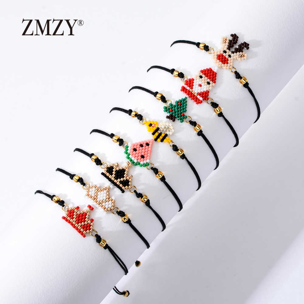 ZMZY Handmade Cute Seed Beads Bracelet Kids Miyuki Bracelet Pulseras Lovely Cartoon Charm Bracelet Jewelry Birthday Present