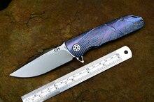 Y-START CH3501 folding D2 lâmina TC4 bola Ceramic bearing arruela alça camping caça ao ar livre sobrevivência faca ferramenta EDC