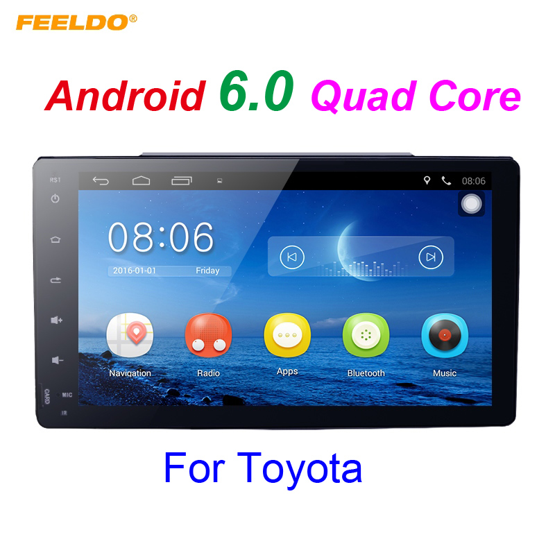 FEELDO 9 inch Android 6.0 Quad Core Car GPS Bluetooth Navi Radio USB Media Player For Toyota Corolla (2017~) +Gift #FD2658