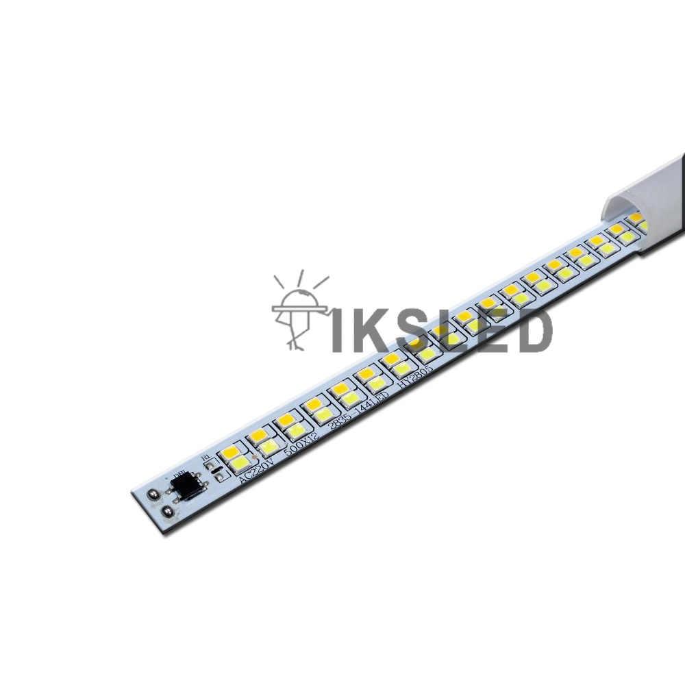 מותאם אישית AC110V 220V כפול צבע led מטבח LED בר אור LED צינור 2835 LED רצועה נוקשה חיסכון באנרגיה LED צינורות ניאון