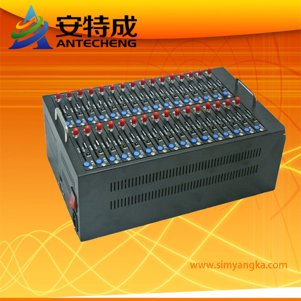 Manufacture supply 32 ports gsm modem Wavecom Q2406 send bulk sms mms support TCP protocol and