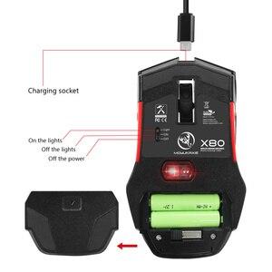 Image 3 - HXSJ беспроводная мышь 2,4G игровая мышь 4800 Регулируемая DPI перезаряжаемая USB мышь плеер красочная подсветка для ПК ноутбуков игр