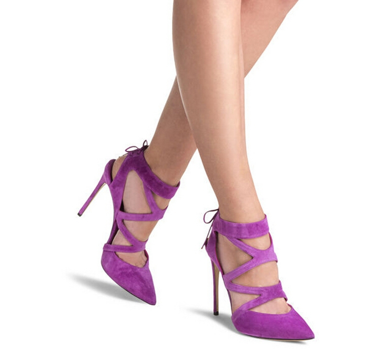Aliexpress.com : Buy Free Shipping Purple Color Ankle Strap Lace ...