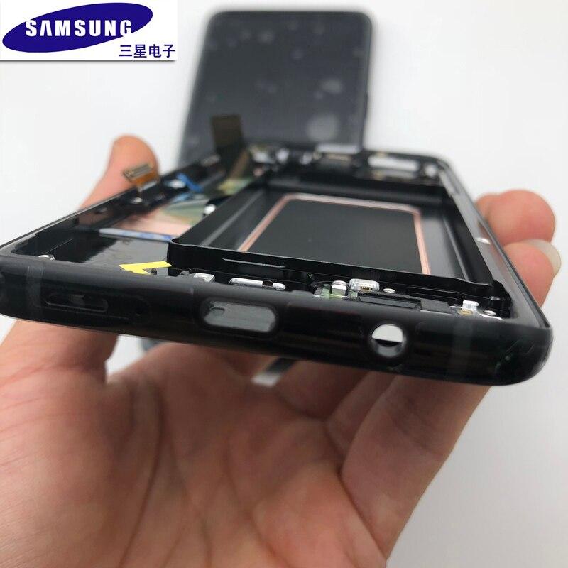 Original AMOLED Bildschirm Ersatz Mit Rahmen Für Samsung S9 plus G965 965F s9 g960 g960f LCD Display Digitizer Touchscreen