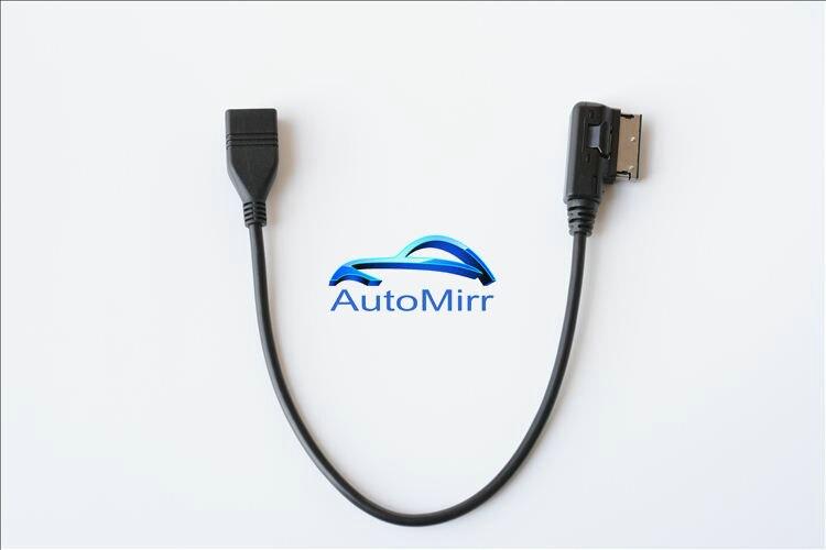 US $7 62 7% OFF Media in USB adapter cable Fit Audi AMI MMI VW Skoda SuperB  MDI USB car Audio MP3 music interface Adapter A3 Golf MK7 MK6 GTI-in