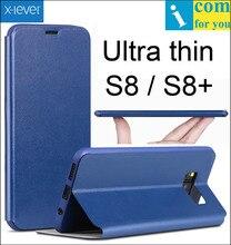 X-уровень книга кожа флип чехол для Samsung Galaxy S8 Plus x уровень fibcolor ультра тонкий кошелек принципиально Внутренняя ТПУ