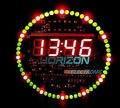 Diy giratoria led electrónico ds1302 reloj digital kit 51 tablero de aprendizaje smc 5 v