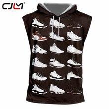 1a2e51bdfc7e CJLM 2018 Summer Tops Men s Cool Print Jordan 23 3d Hooded Tank Tops Man  Hiphop Streetwear Punk Sleeveless Hoodies Pullovers 7xl