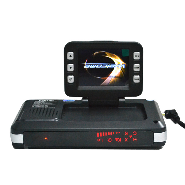 2 In 1 Multi Function VRG 2 Car Radar Detector Car DVR Recorder HD 720P 120